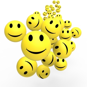 Smileys Show Happy Positive Faces